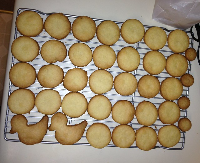 Making shortbread cookies - all cooked