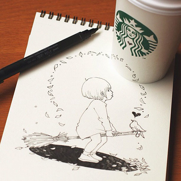 starbucks-cups-3d-drawings-tomoko-shintani-6