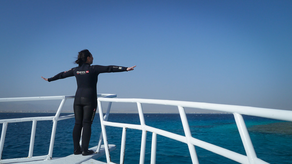 Red Sea in wetsuit