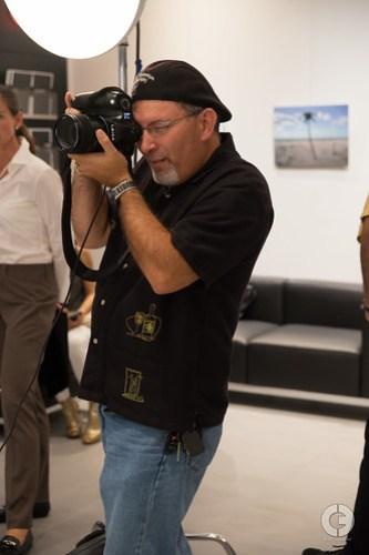 Carlos behind the camera