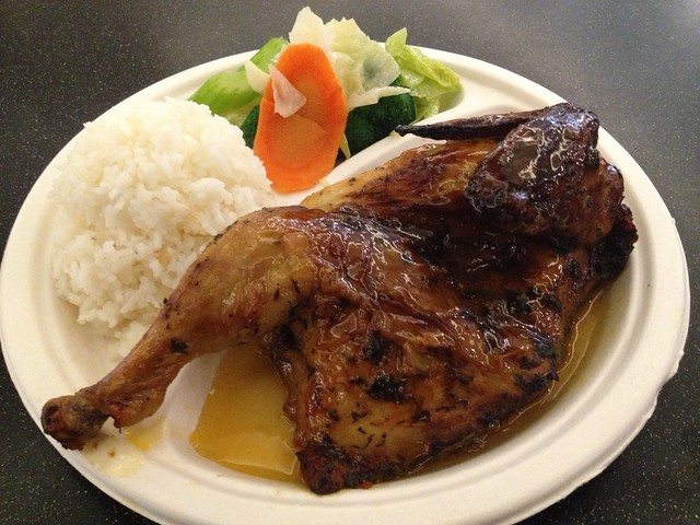 Half bbq chicken plate - Harbor Village Kitchen
