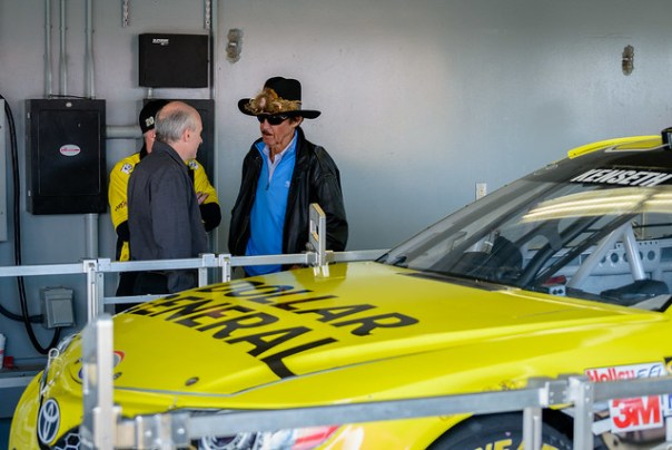 Richard Petty during the Dollar General Car (Matt Kenseth, #20) inspection