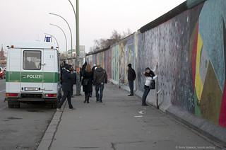 Berliner Mauer bewacht