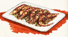 Black pepper prawns