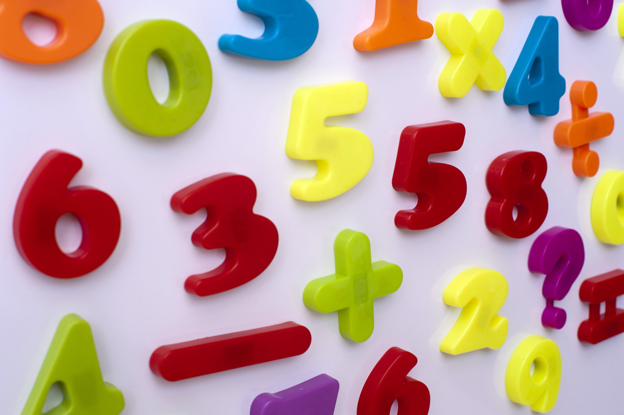 School Toy Education Background Plastic Numbers Learning