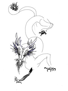 """Tutorial: """"Grandfather Dragon"""" (#27: Project 365 Sketches)"""
