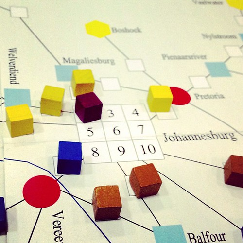 Tracks around Johannesburg in South African Railroads #boardgames