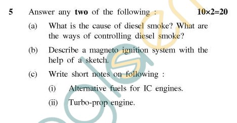 UPTU: B.Tech Question Papers - ME-602 - I.C. Engines