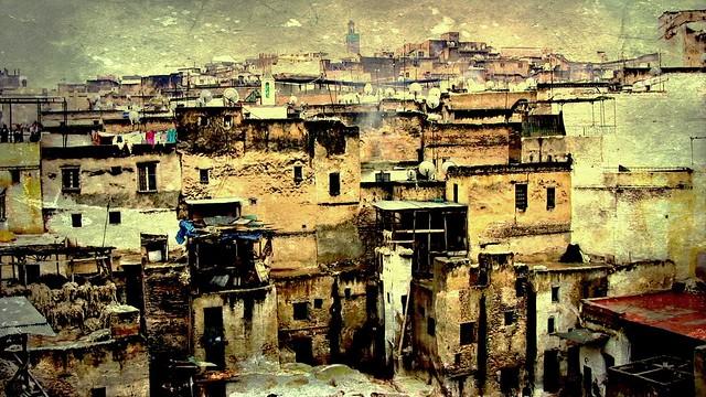 Marokko  Fes, Serie Gerberviertel Shuwaara - Eine Reise ins Mittelalter , 6-77/1995