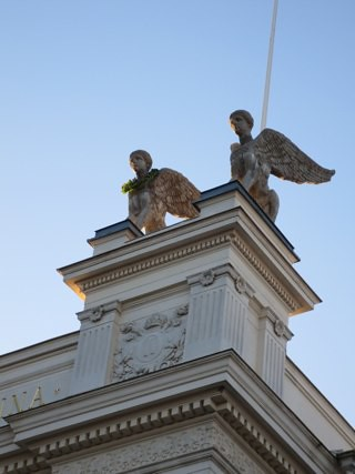 Sphinxes of the Lund University main building, at Paradisgatan 2