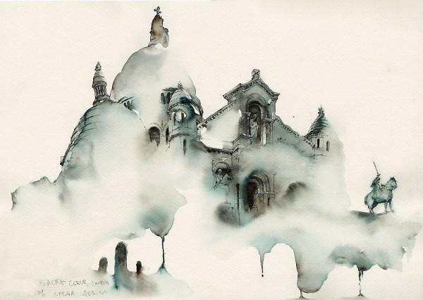 Sacre-Coeur Church in Montmartre, Paris by Park Sunga