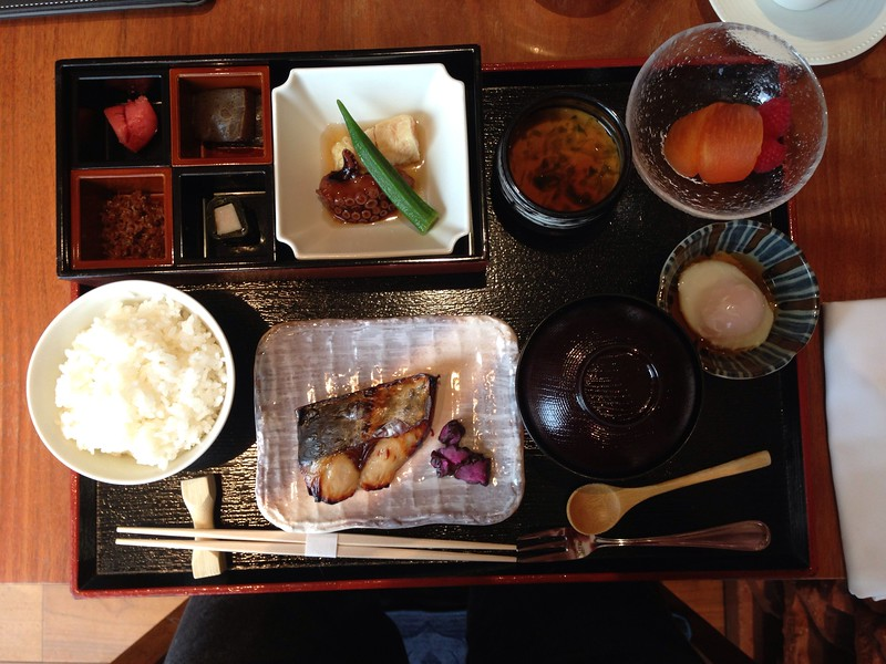 Japanese Breakfast Set at the Dining Room