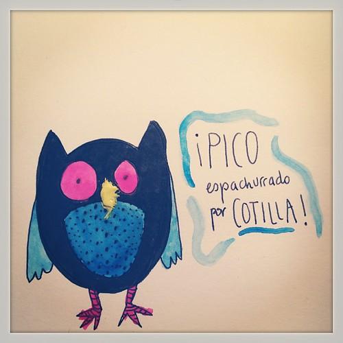 *Pico espachurrado por COTILLA* suele pasar..