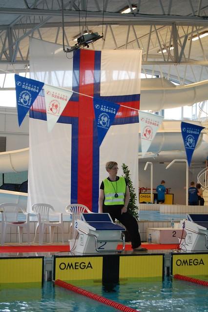 Our flag 'Merkið' at the MU 2013