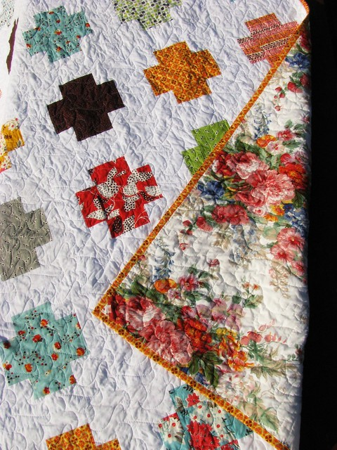 Mom's Flea Market Fancy Cross Quilt Detail