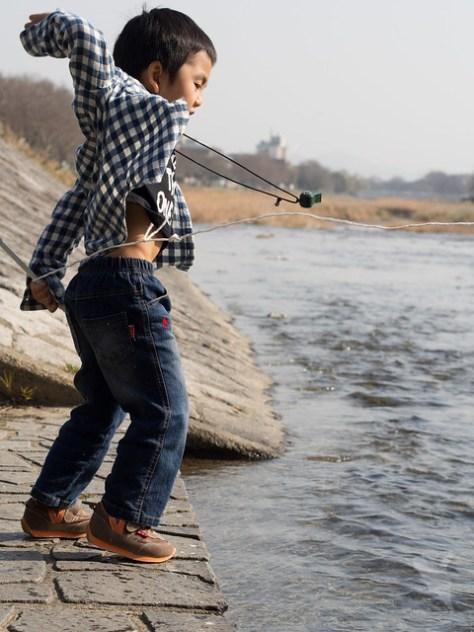 「釣り糸」飛ばし