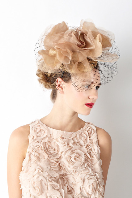 William Chambers Coast floral veiled hat 130