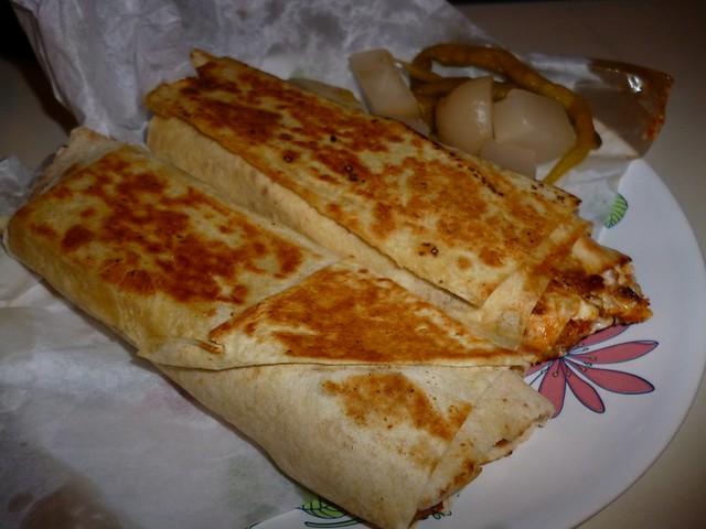 Chicken shawarma from roadside stall