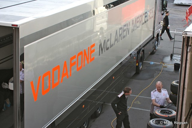 The McLaren paddock area at Formula One Winter Testing, 3rd March 2013