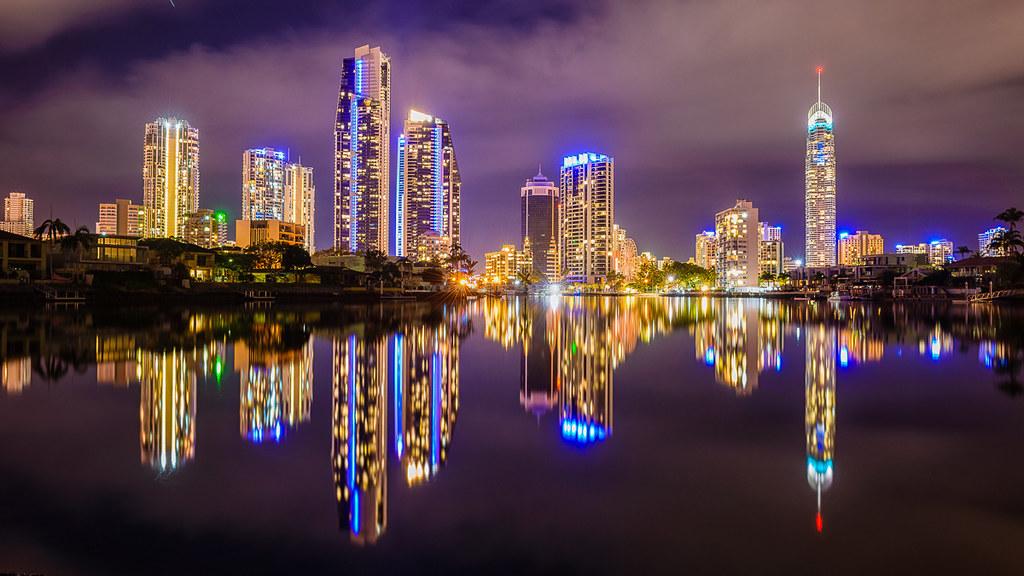 Gold Coast Skylines Gold Coast Skylines View At Night