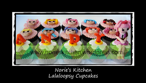 Norie's Kitchen - Lalaloopsy Cupcakes by Norie's Kitchen