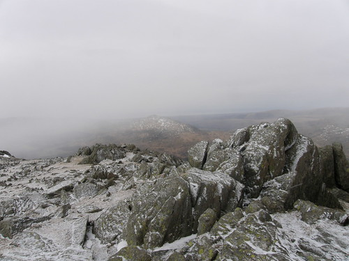 Harter Fell disappears from view