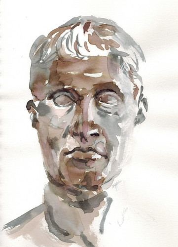 study of a marble bust by husdant