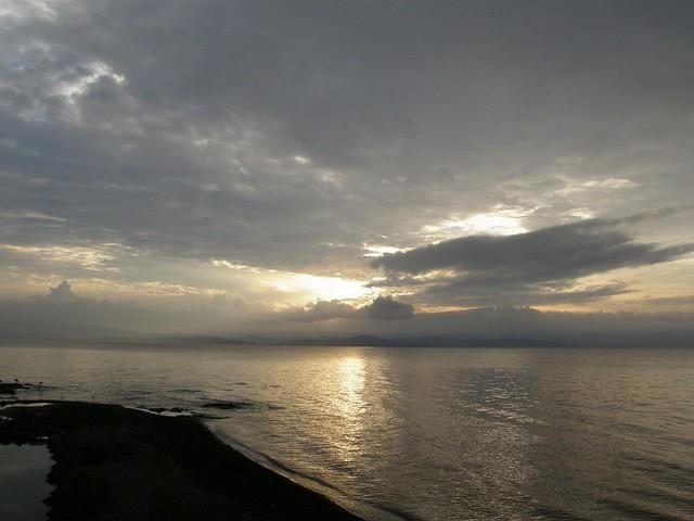 Amanecer en el lago Langano