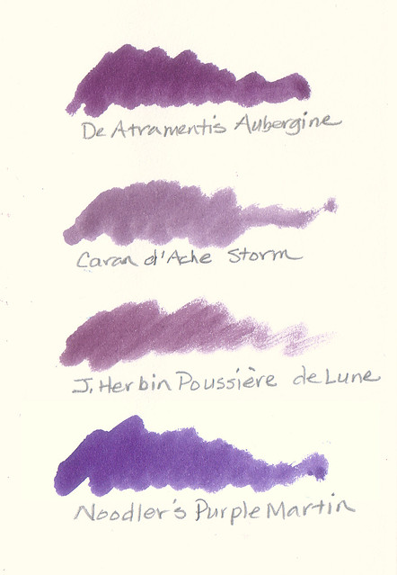 Dusky Purple Fountain Pen Inks
