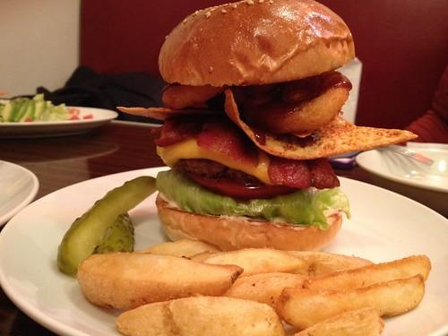 限定バーガーのクリスピーバーガー!2@レッグオンダイナー (Reg-On Diner)