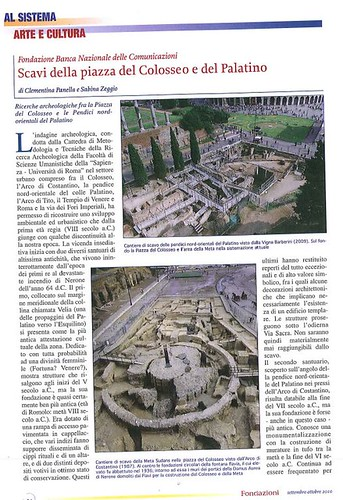 "ROMA ARCHEOLOGIA e BENI CULTURALI: ""SCAVI della piazza del Colosseo e del Palatino,"" di C. Panella 