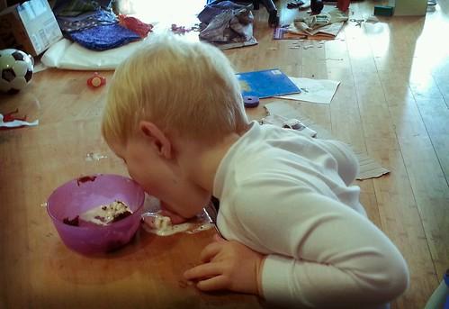 Owen Likes Cake and Ice Cream by marymactavish