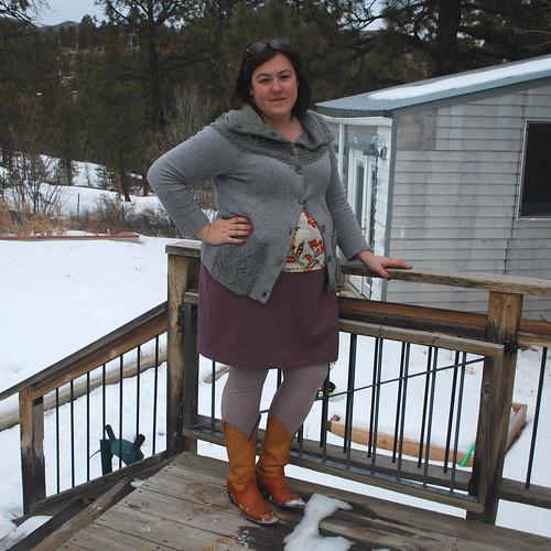 Tiny Pocket Tank Brown Skirt