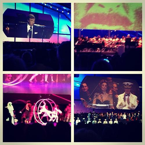 CEO Pierfranco Vago, amazing Ennio Morricone, #mscpreziosa theatre & the one and only Sophie Loren last night
