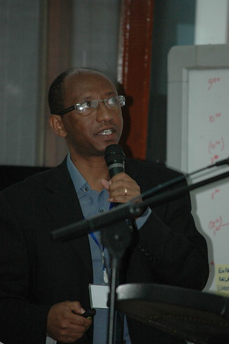 Berhanu Gebremedhin at LIVES resarch planning workshop