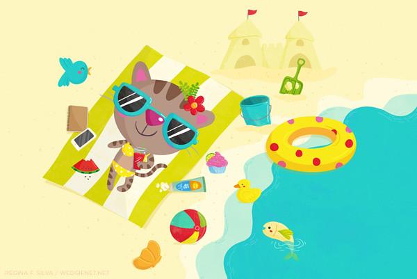 Cool summer cat