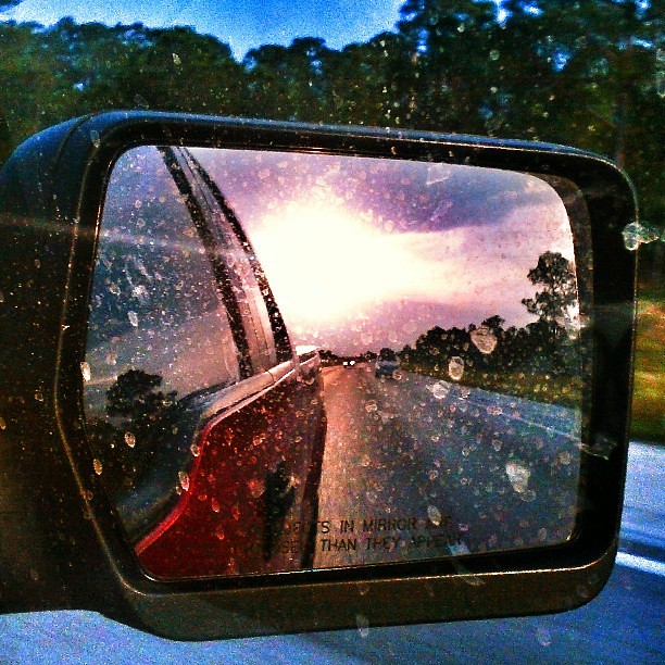 Sunset in Rearview