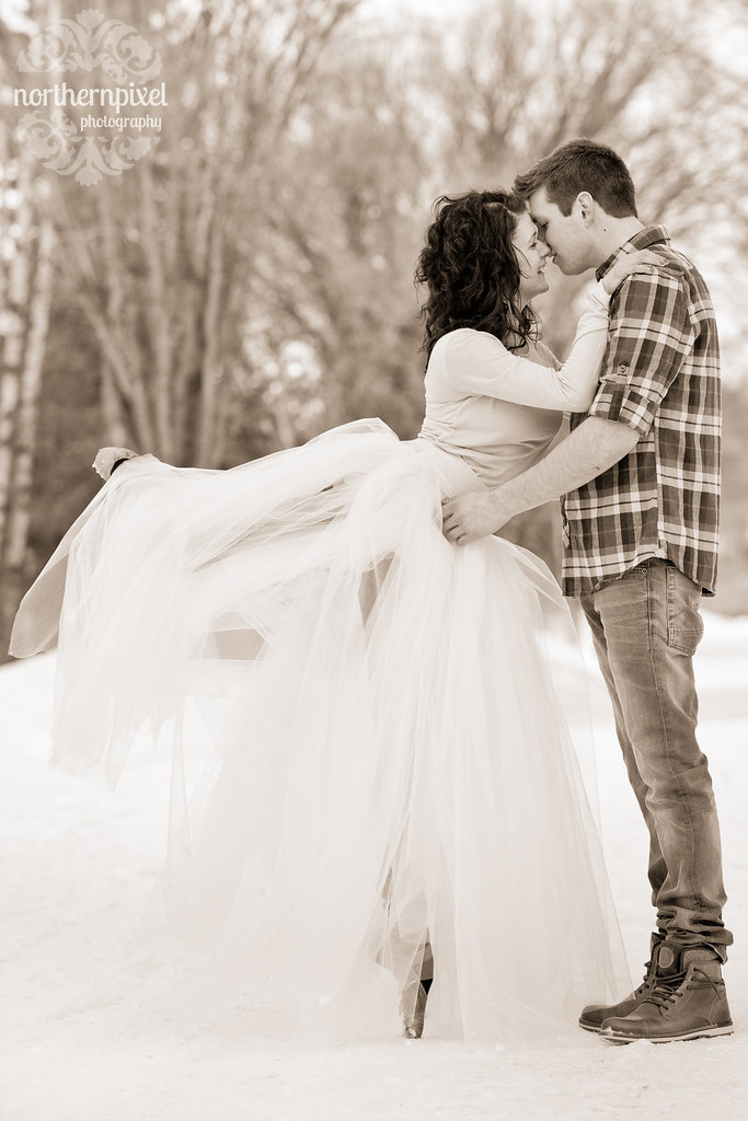 Winter Ballet Engagement Session - Prince George BC