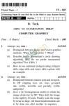 UPTU B.Tech Question Papers - CS-603-Computer Graphics