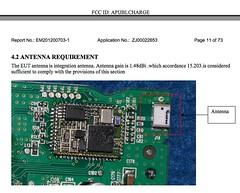 "Harman ""JBL Charge"" Yellow Flag Caution KemptonTestLab - pix 03 - Antenna looking like 1st gen Flip antenna"