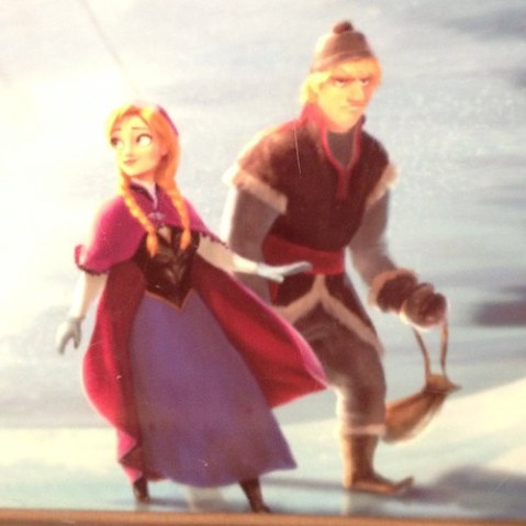 Frozenの主役2人。