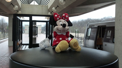 Abandoned Minnie Mouse Plush Toy