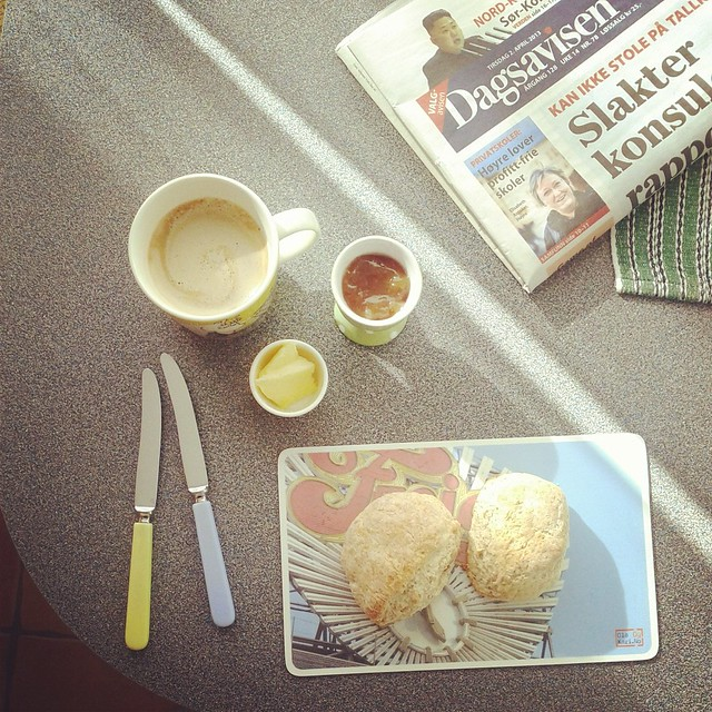 Scones and coffee.