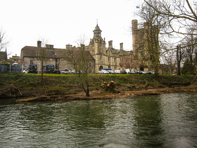 View across the Stour to Canford School
