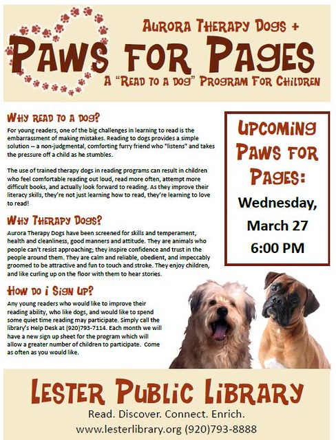 Paws for Pages March 2013