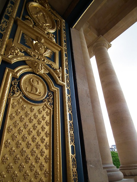 Golden door at Les Invalides, Paris