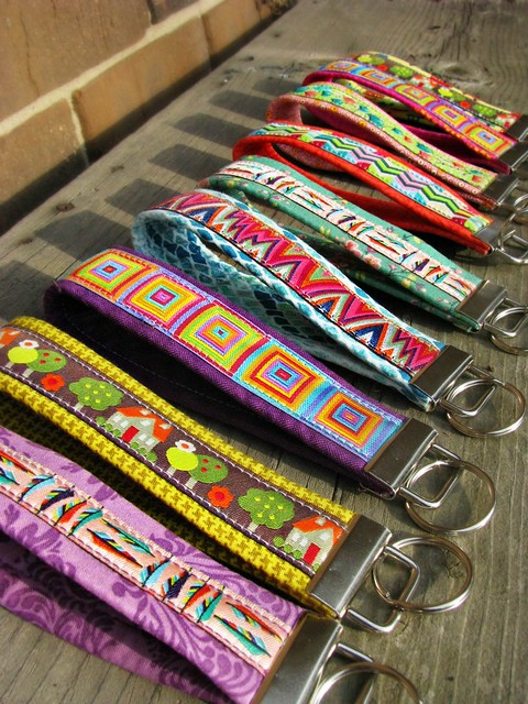 Ribbon Key Fobs Detail