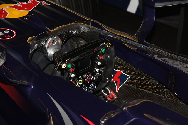 David Coulthard's Red Bull at Donington Park