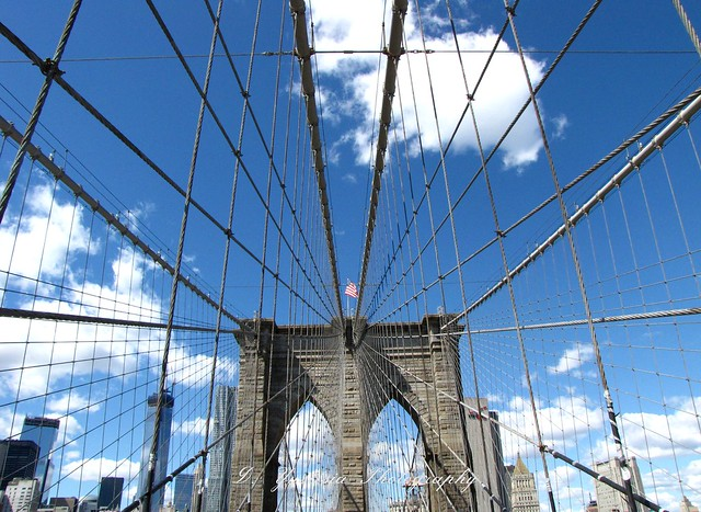 The Brooklyn Bridge built in 1875
