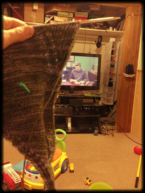 Knitting and Ron Swanson